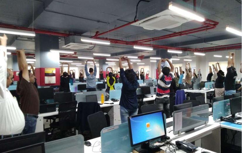 Yoga Day at Fidel Softech Pvt. Ltd